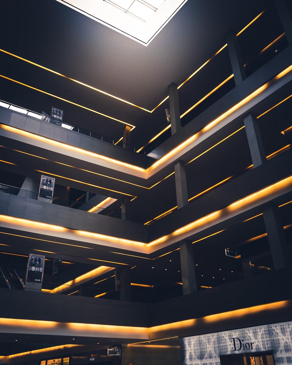 escalators inside building