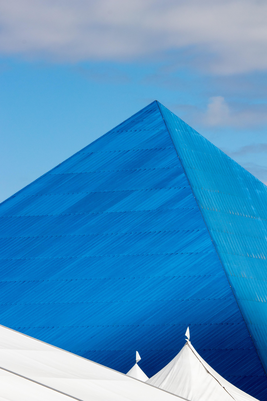 blue pyramid landmark