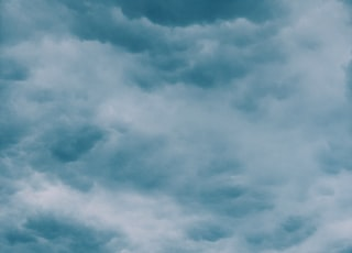white and blue cloudy sky during daytime