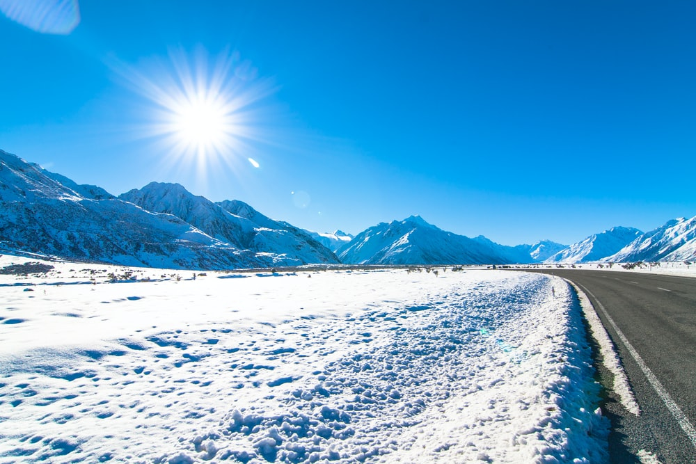 landscape photography of mountains covered with snow