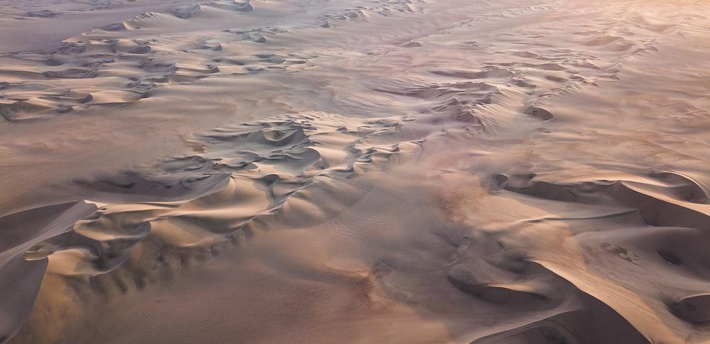 aerial view of desert
