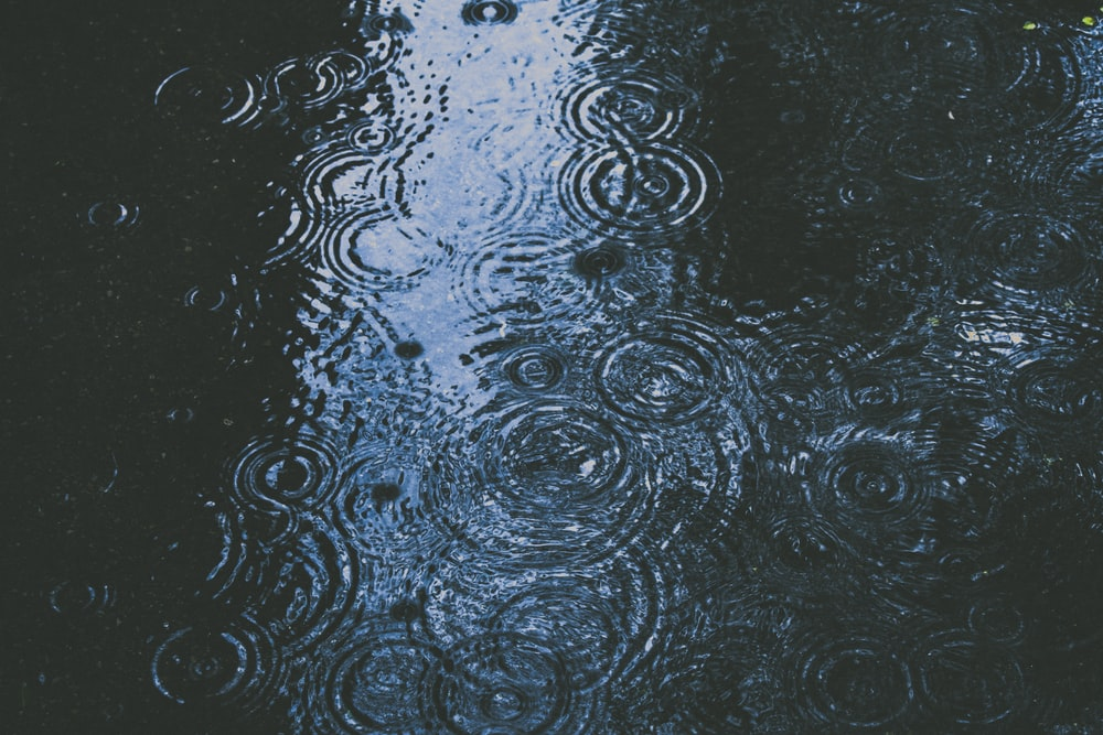 photo of body of water and droplets