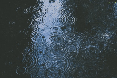photo of body of water and droplets rain teams background