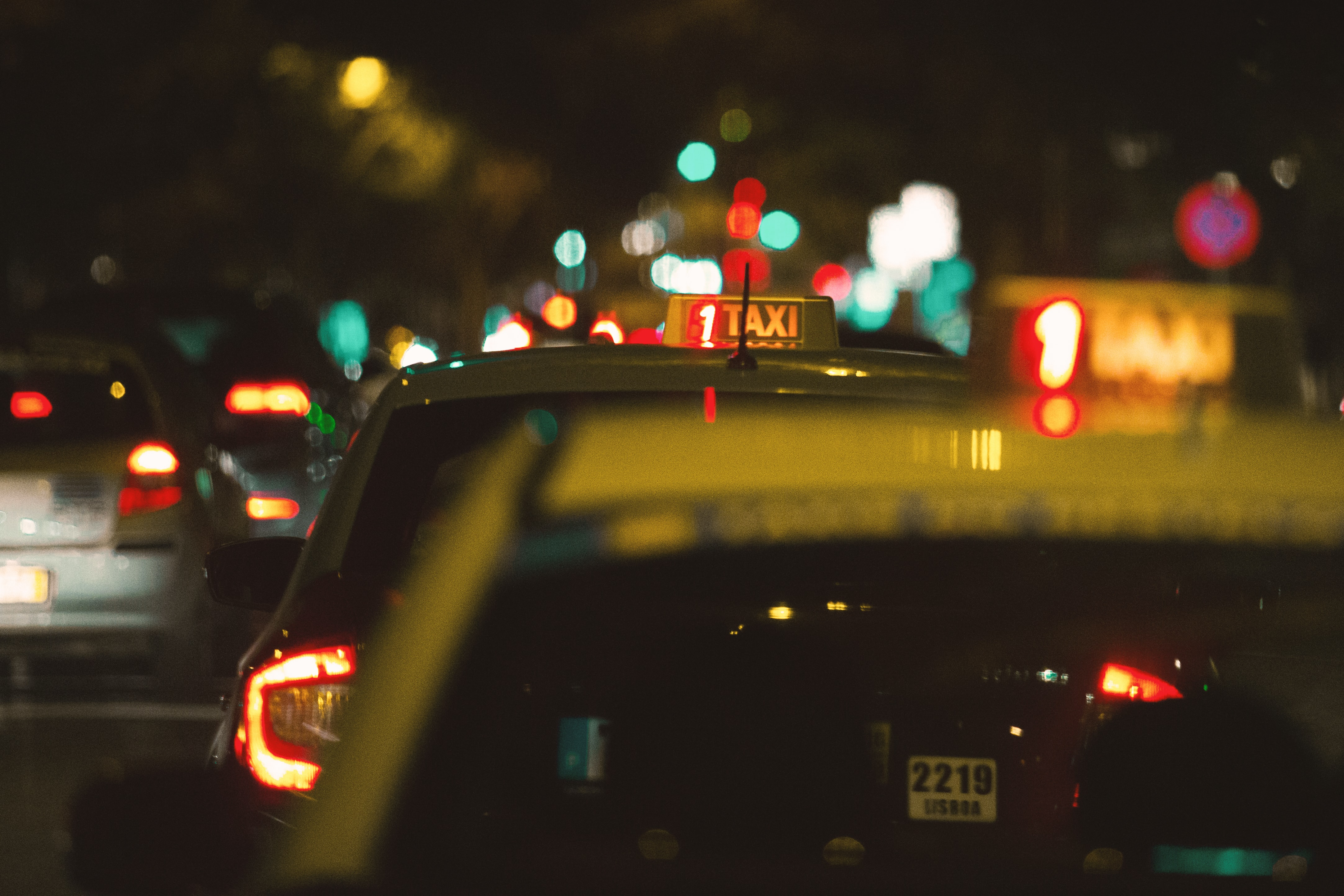 two taxi cabs