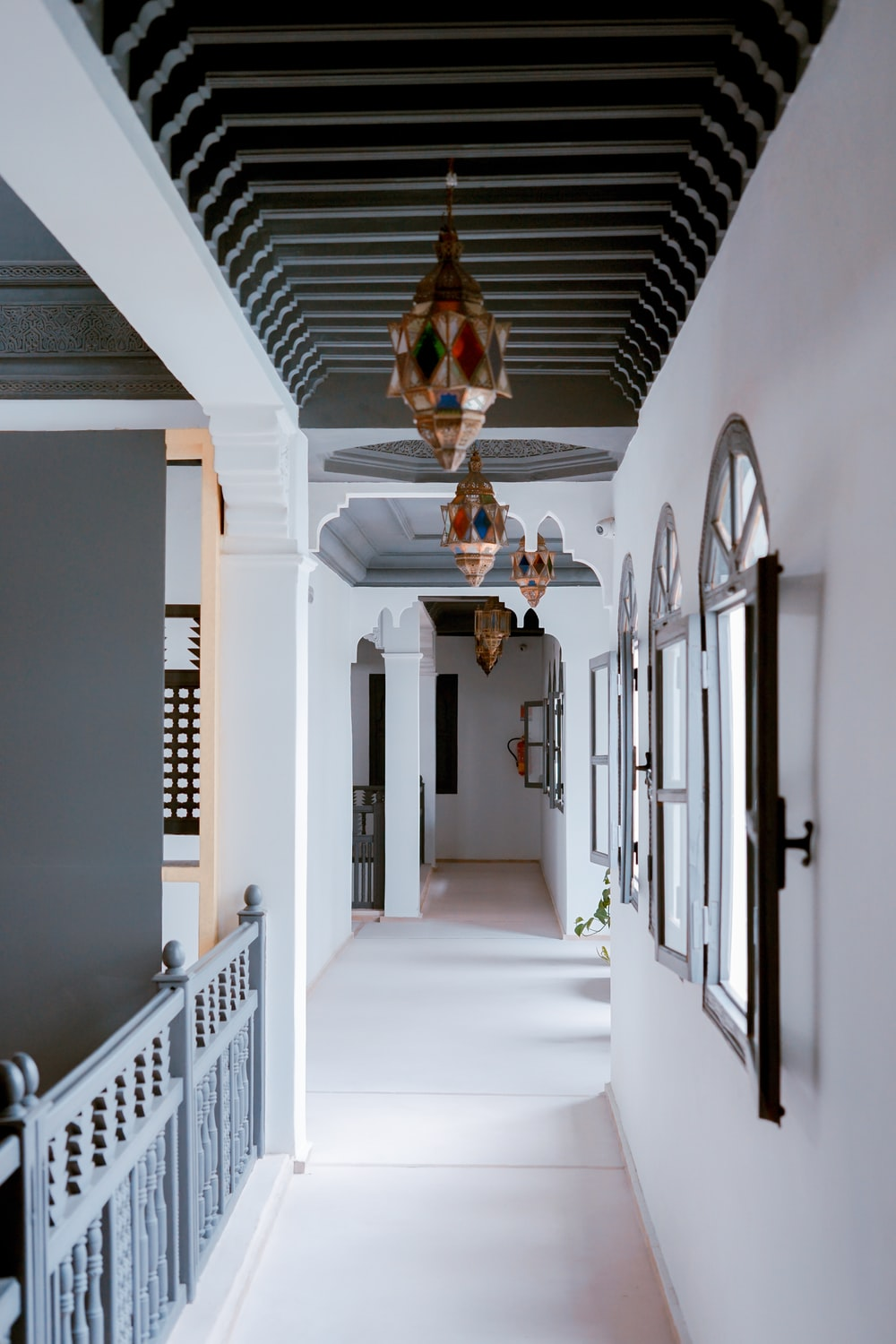 white wooden house interior