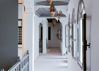 white wooden house interior