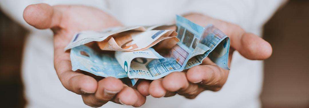 two Euro banknotes