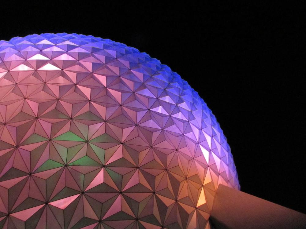 purple and pink ball digital wallpaper