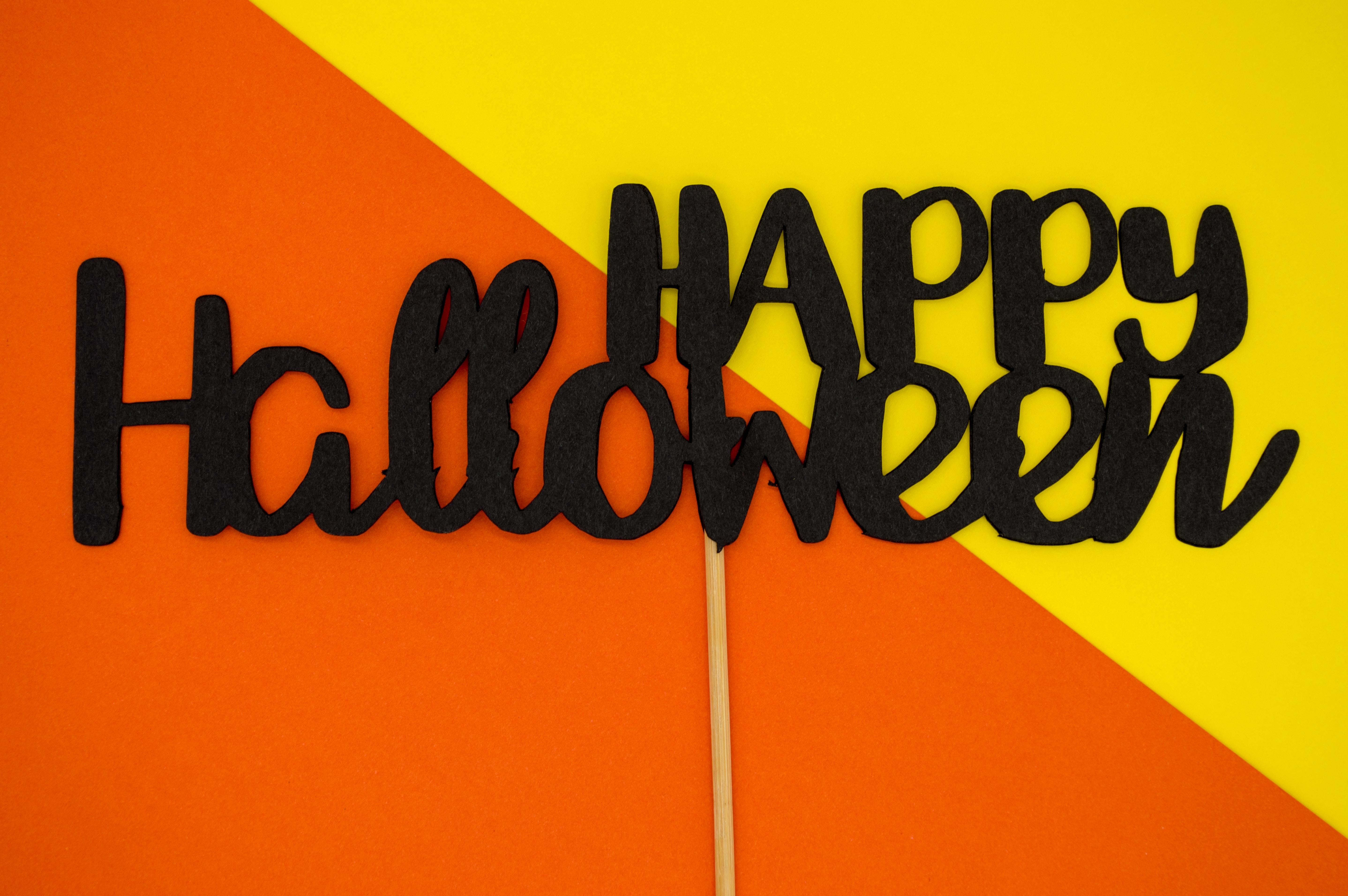 Happy Halloween text