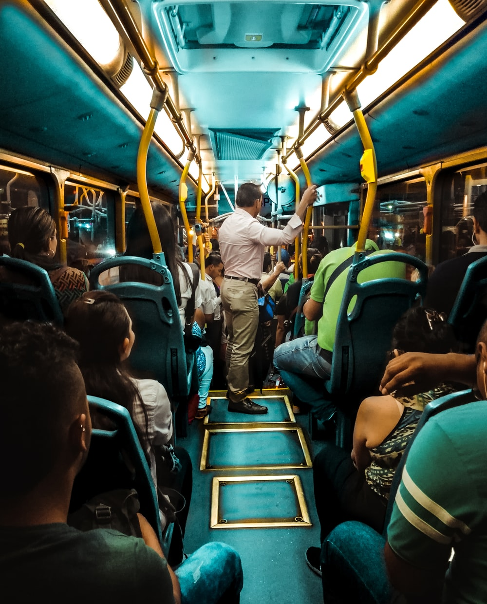people inside bus