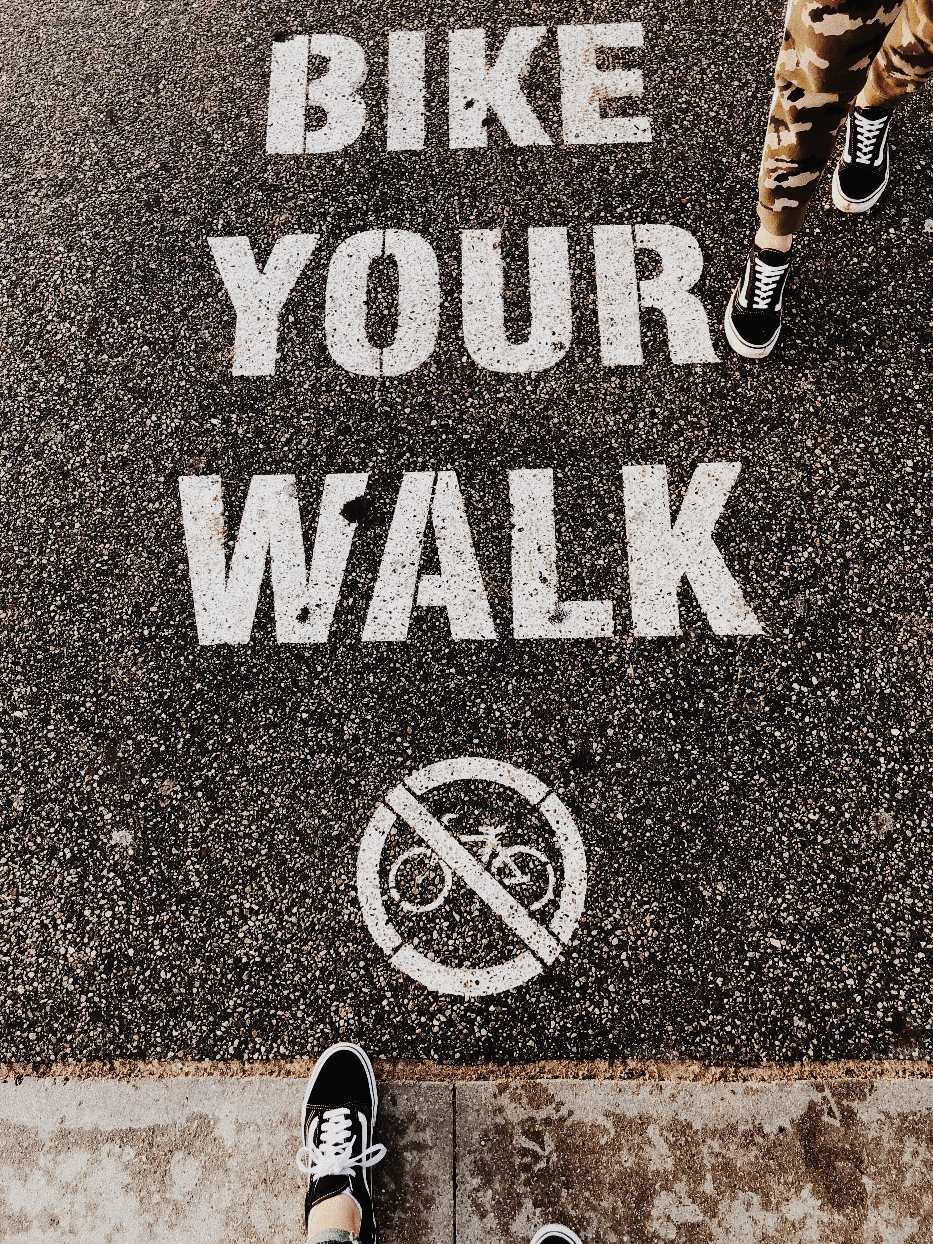 Bike Your Walk print asphalt