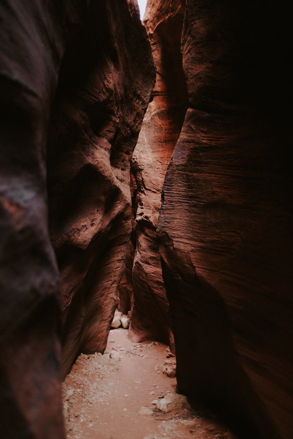 brown cave at daytime photo