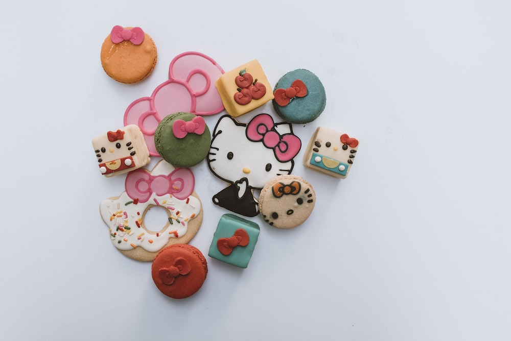 assorted Hello Kitty pastries