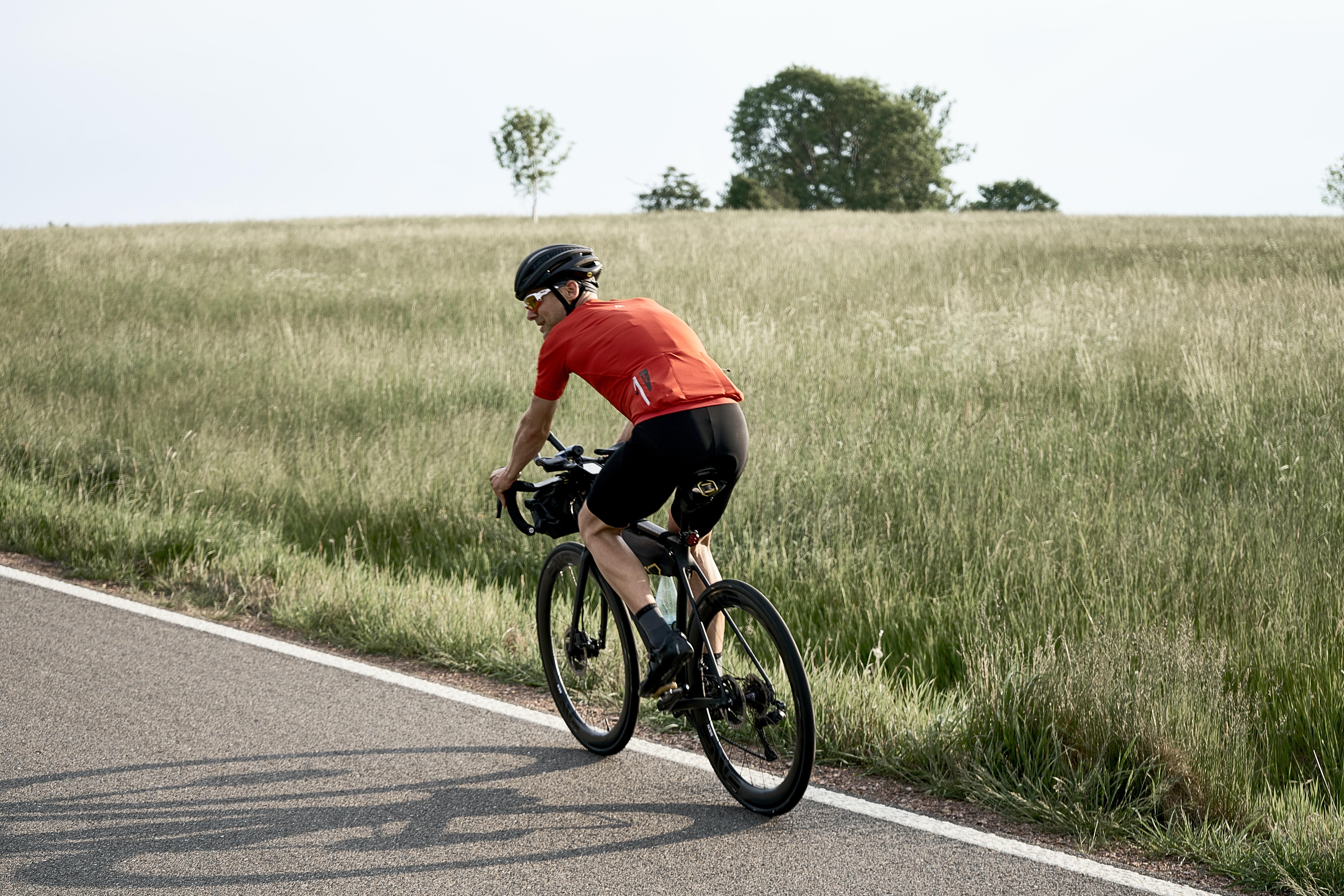 Person Riding A Bike
