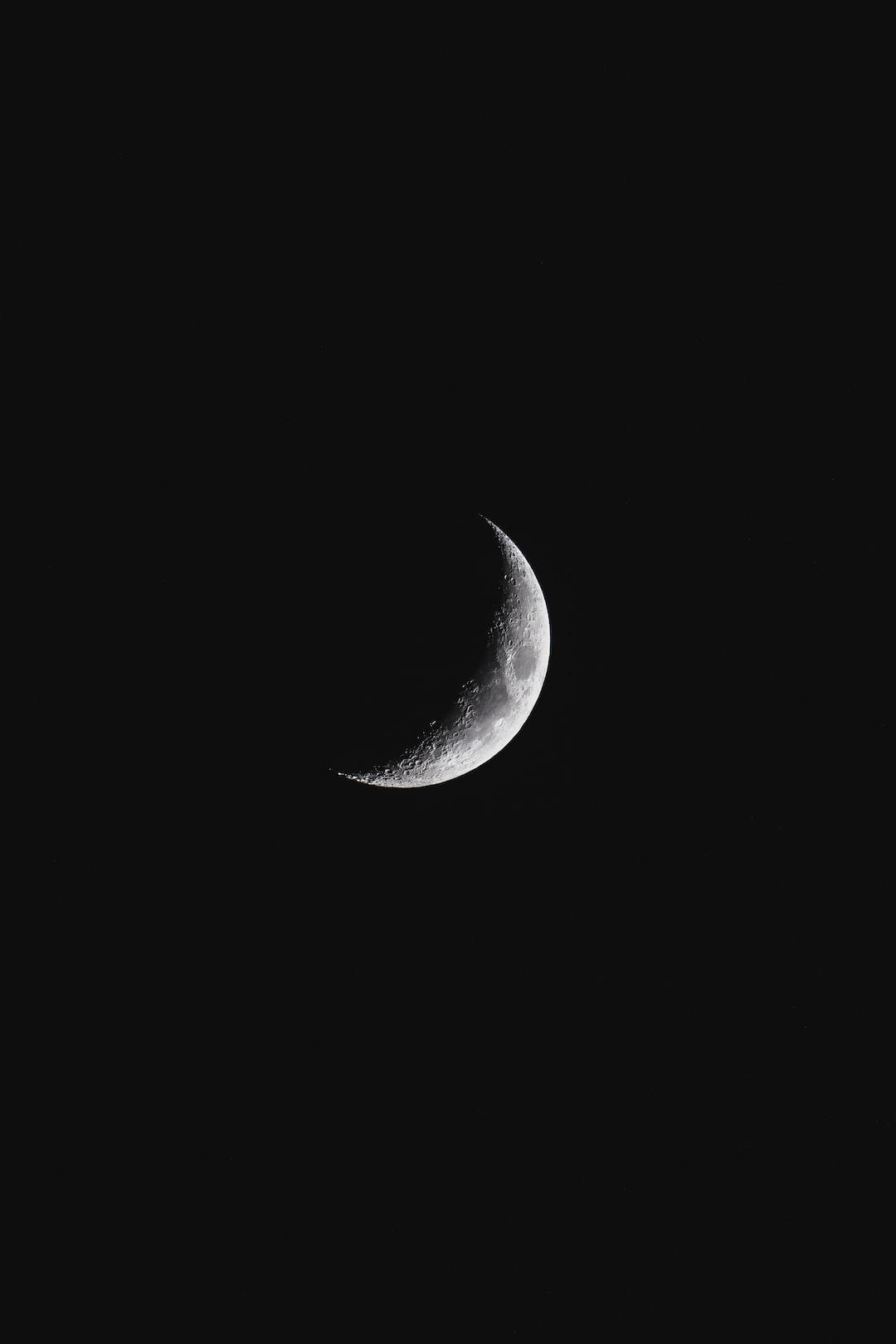 Half moon shining bright