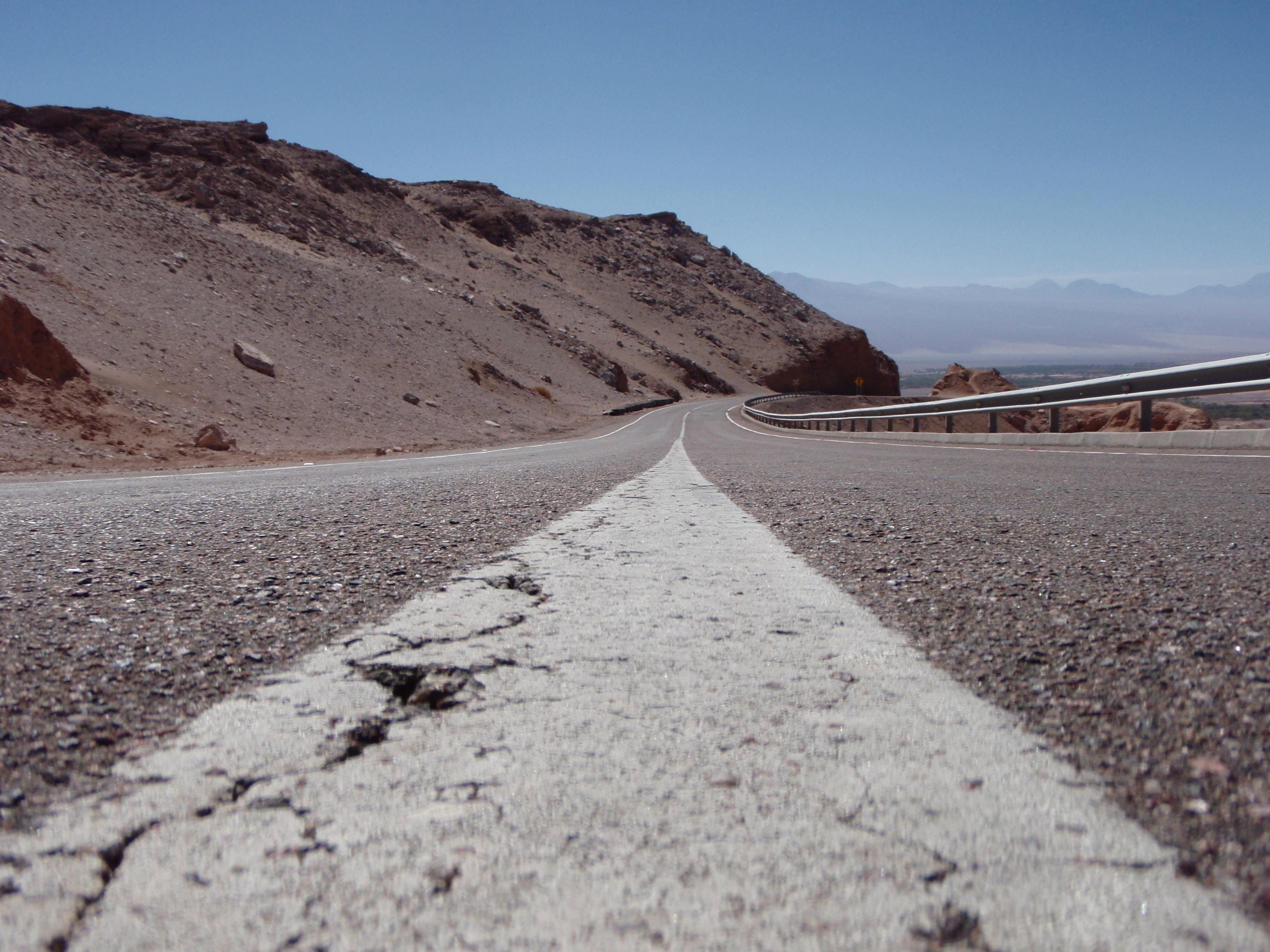 concrete road on the edge of mountain