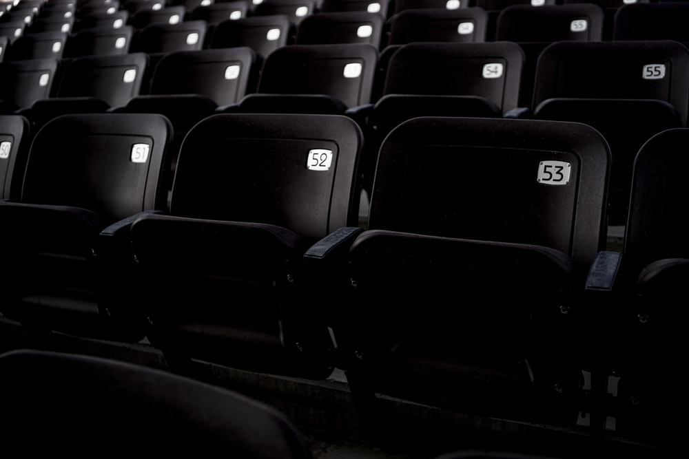 black theater chairs