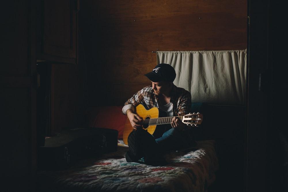 man playing acoustic guitar6