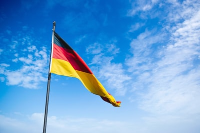 blue, red, and yellow flag germany zoom background
