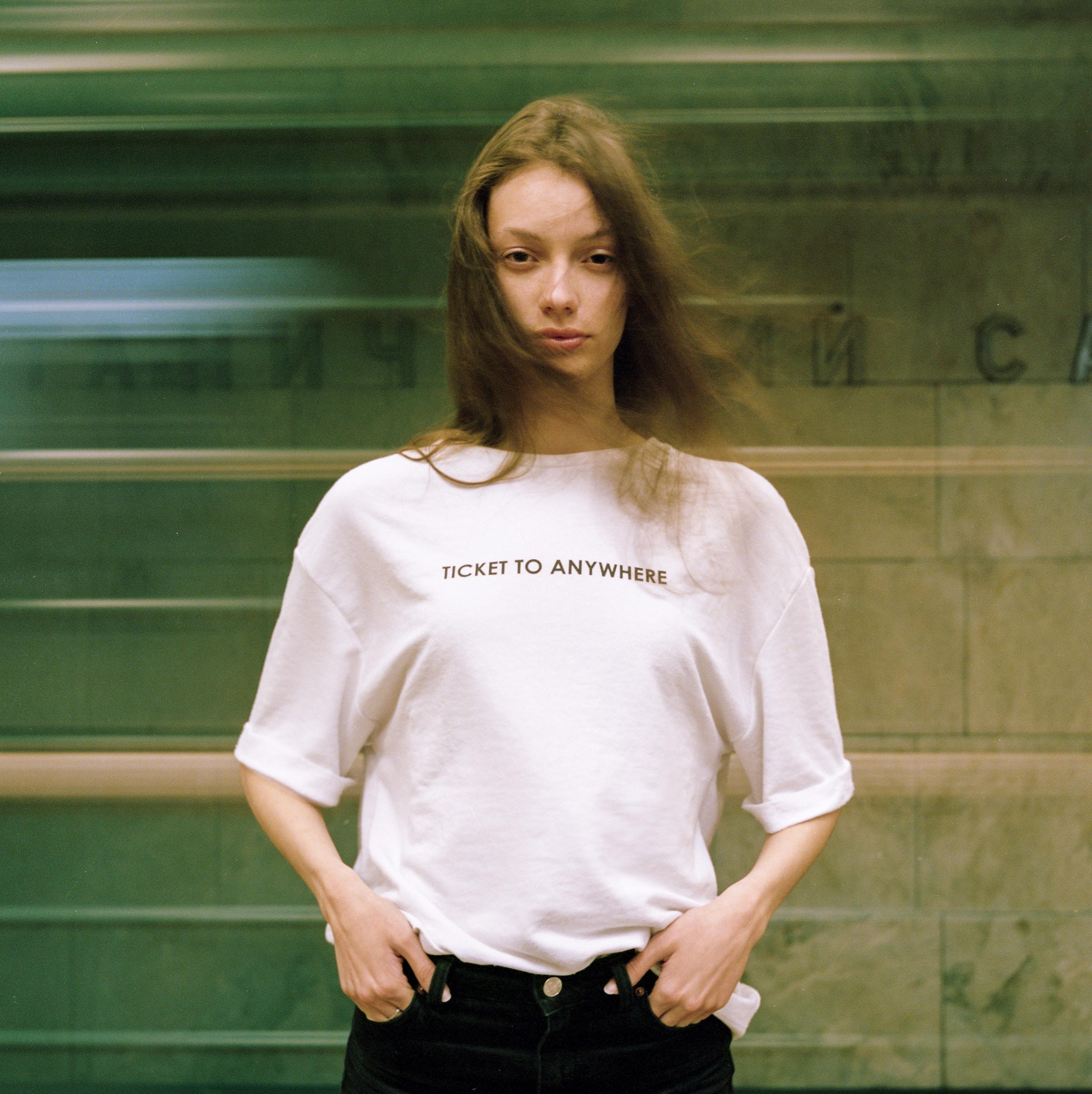 Girls wearing see through shirts