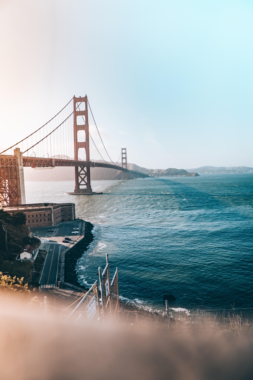 aerial view of Golden Gate bridge