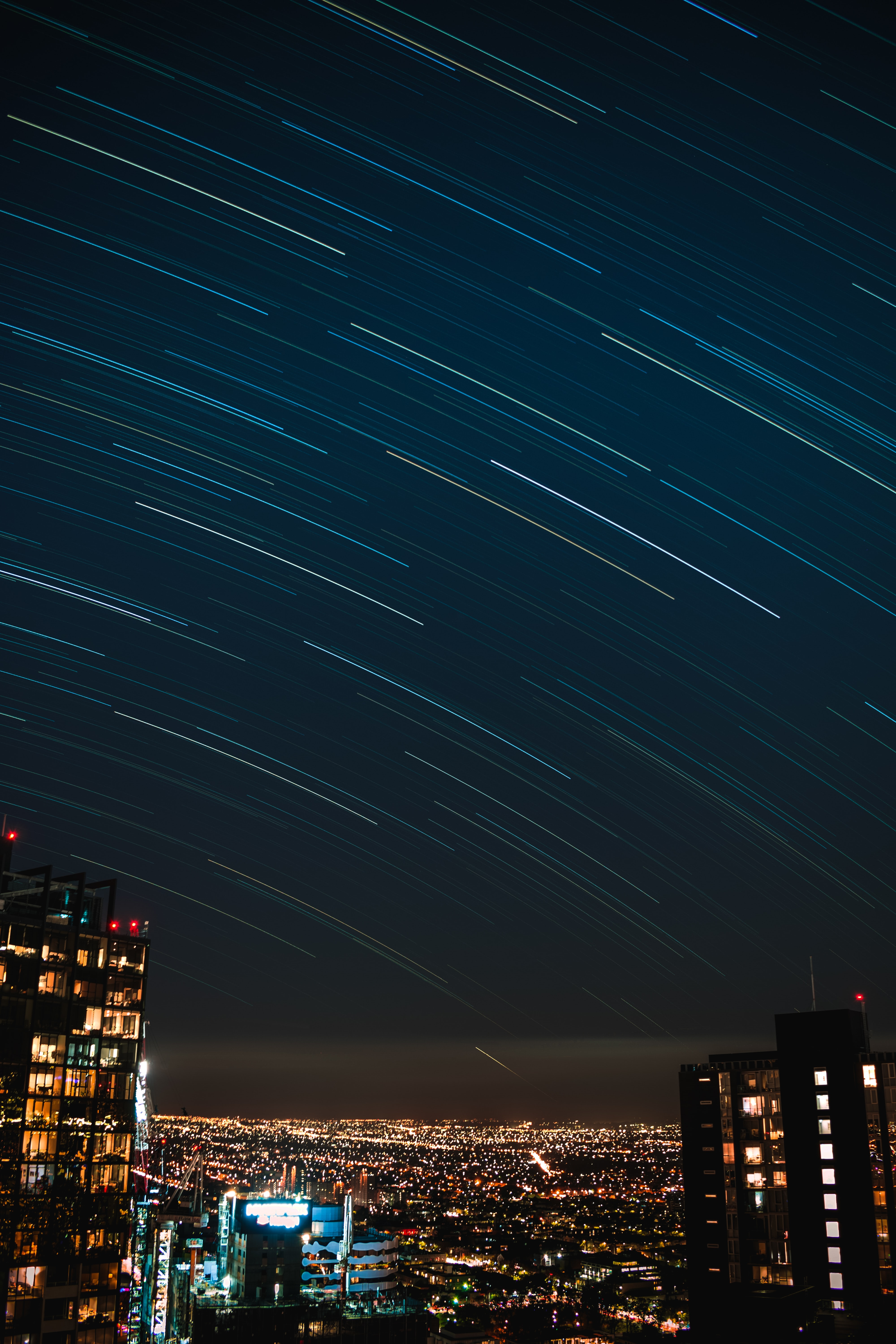 photography of meteor shower