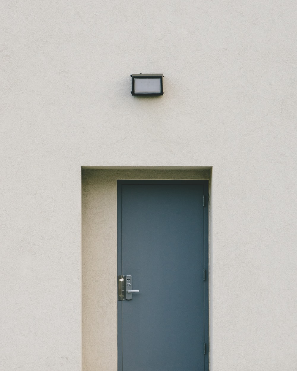 gray metal door