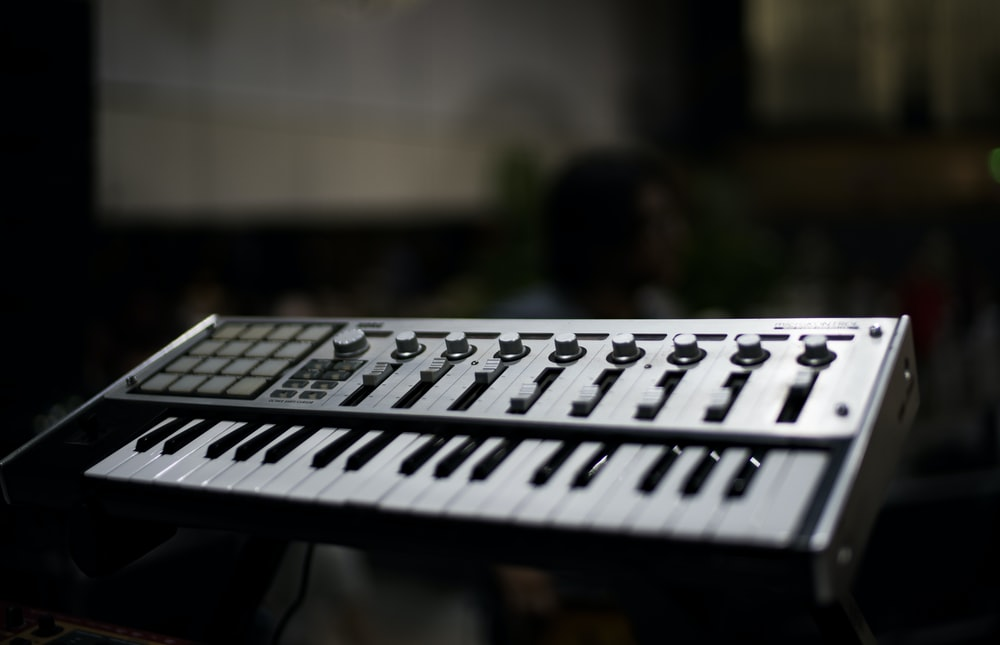 selective focus photography of MIDI keyboard