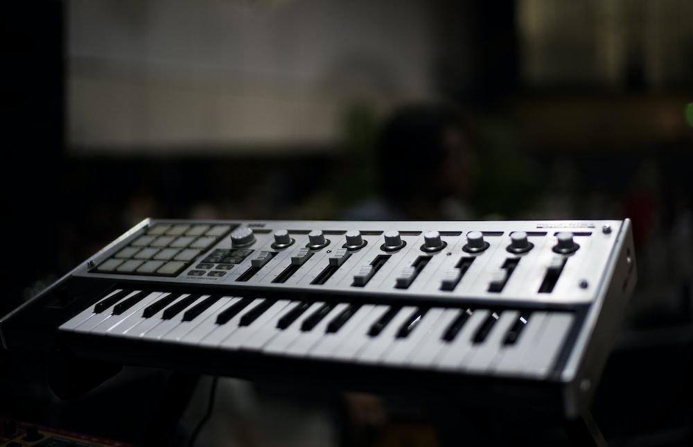selective focus photography of MIDI keyboard