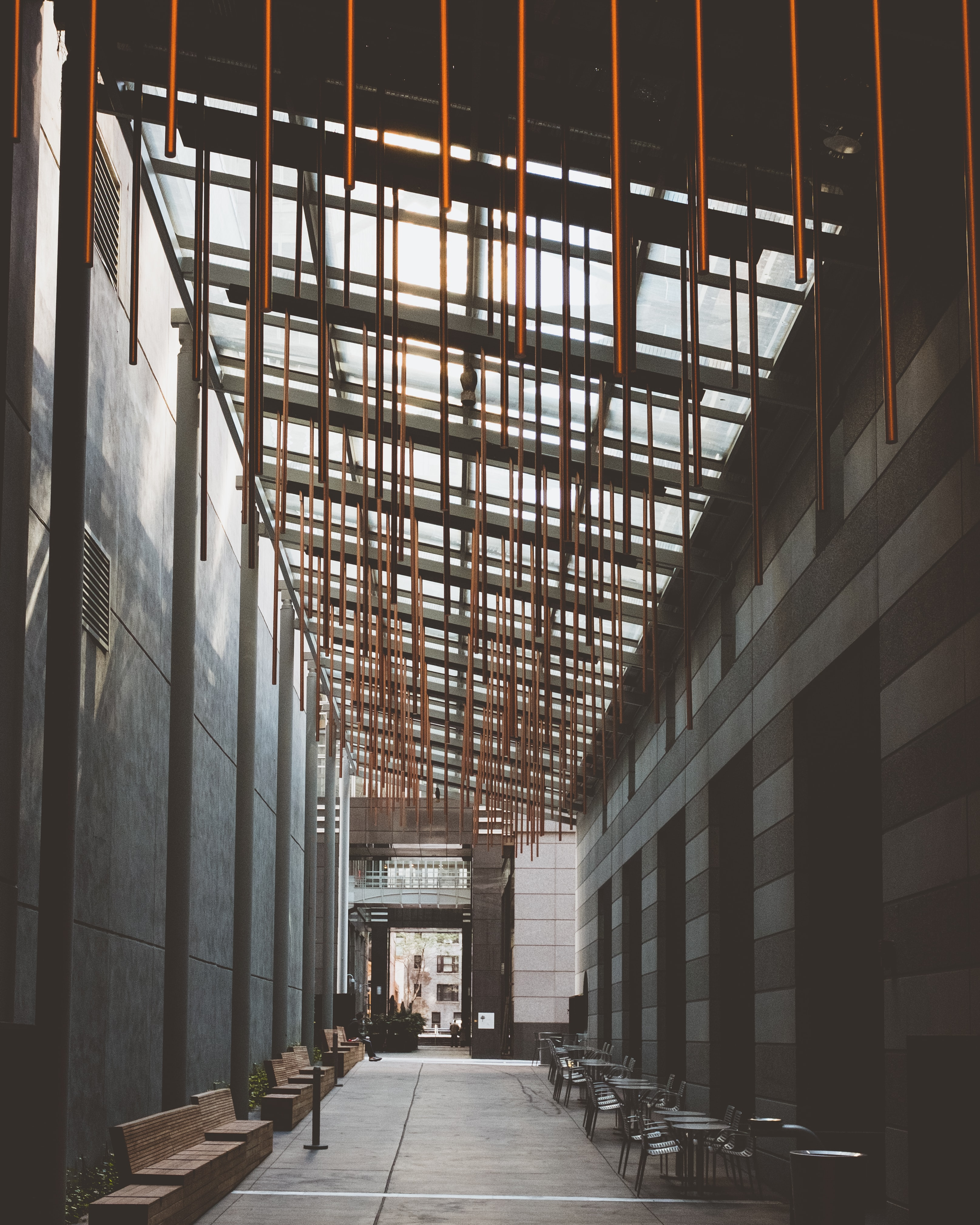 black and brown building interior