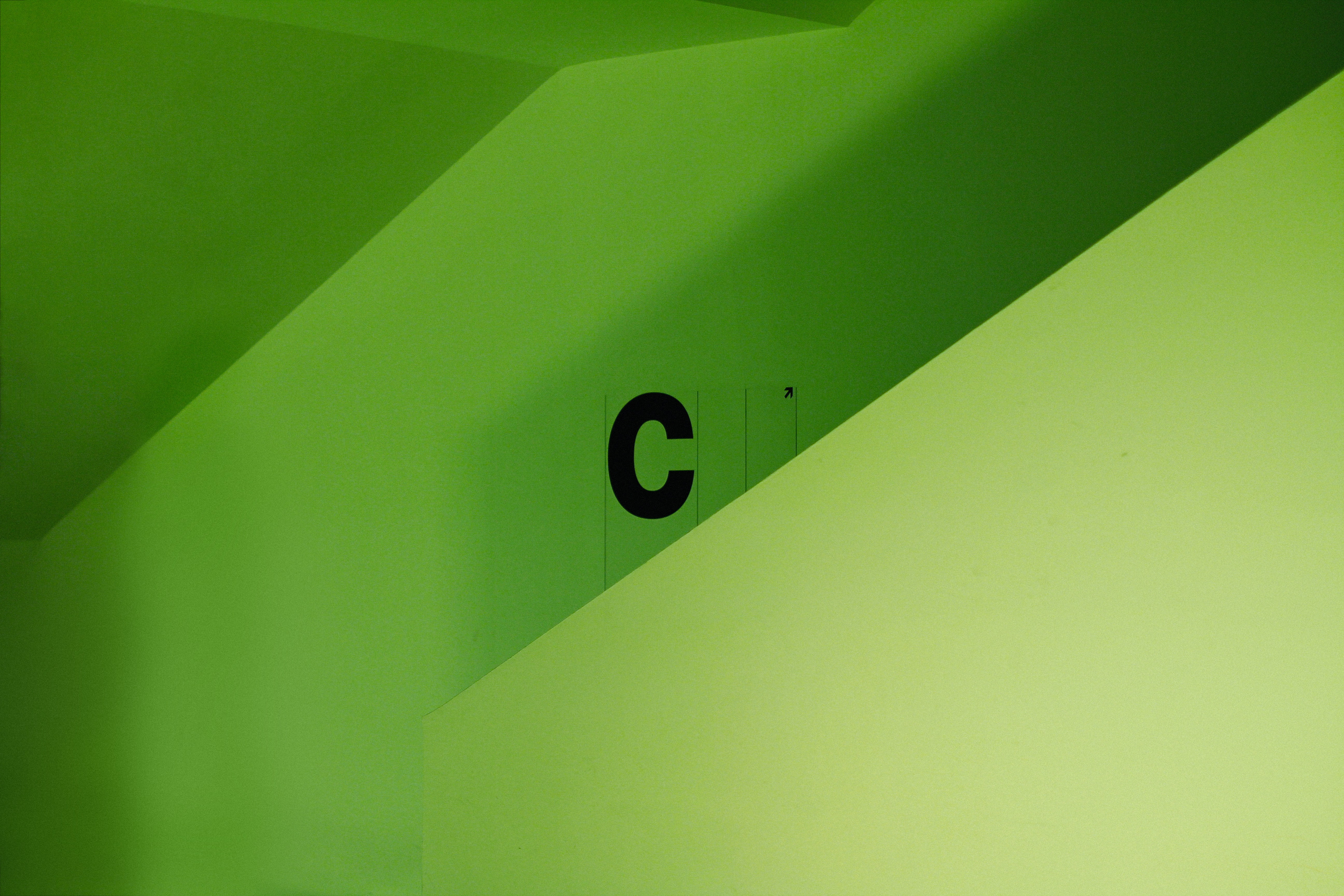 green painted wall