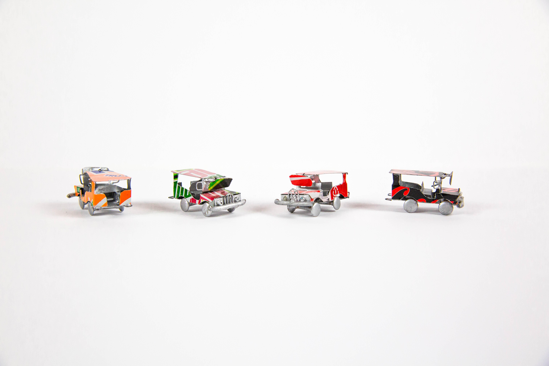 four classic car toys