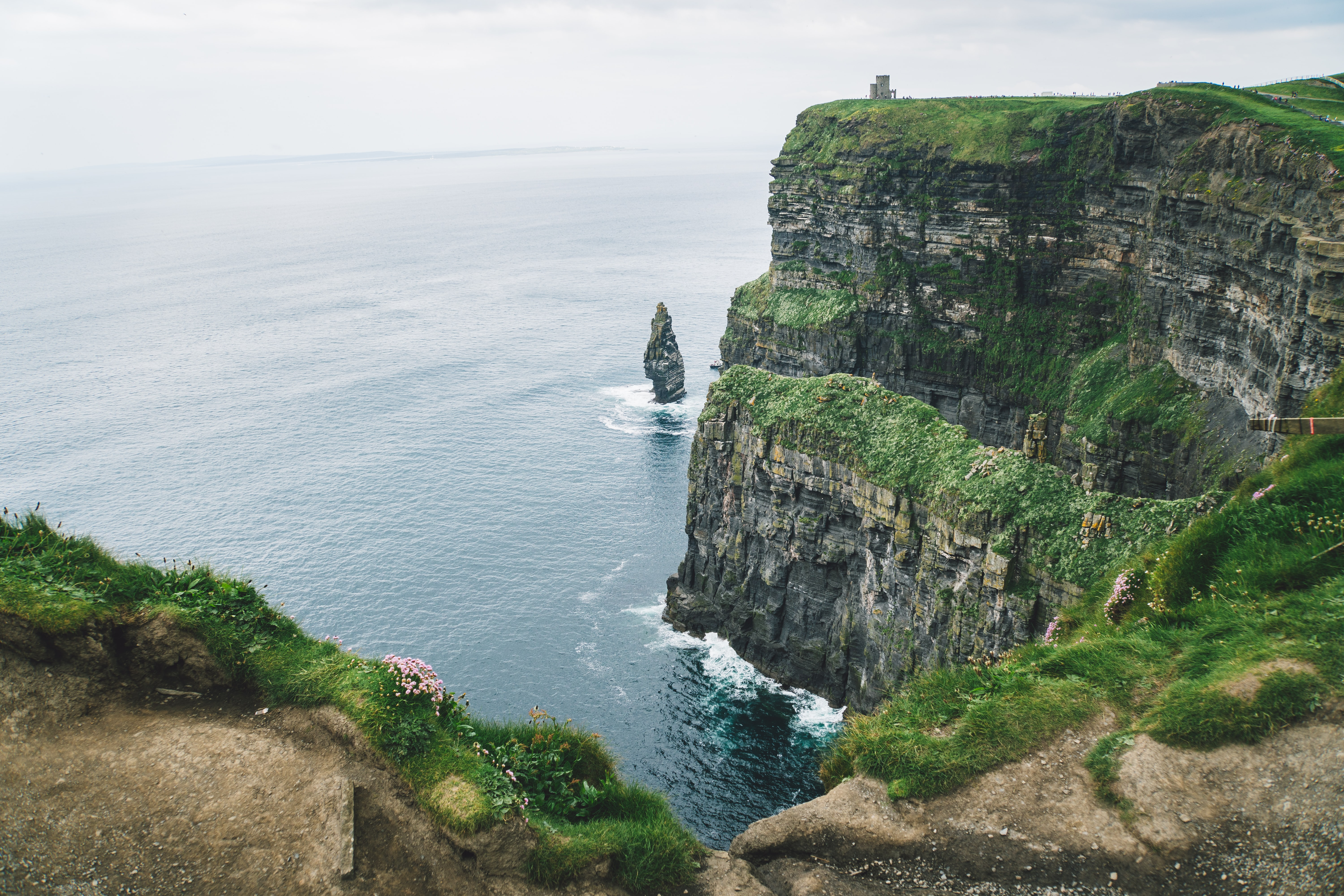mountain cliff beside of the sea