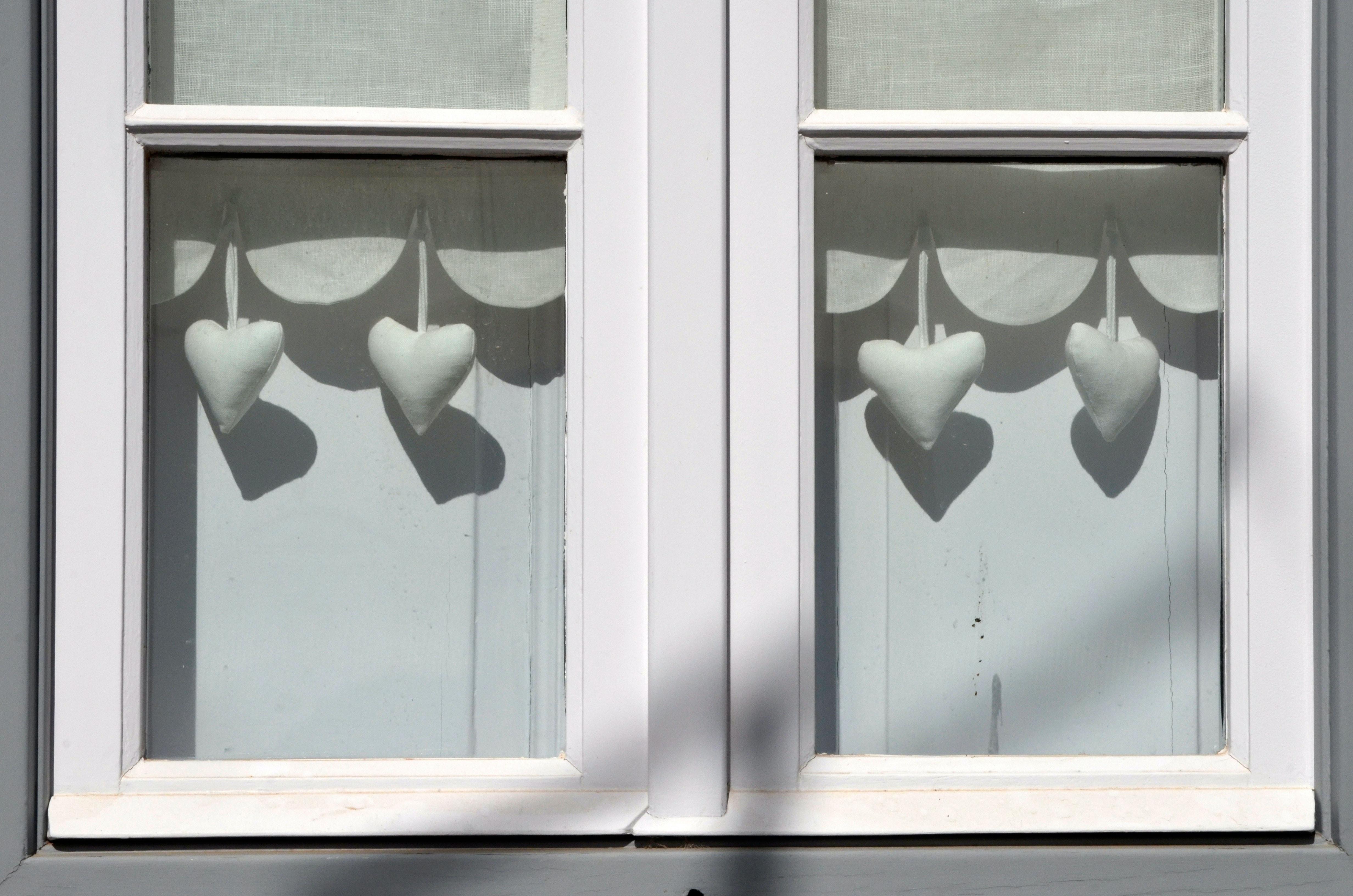 closed white window