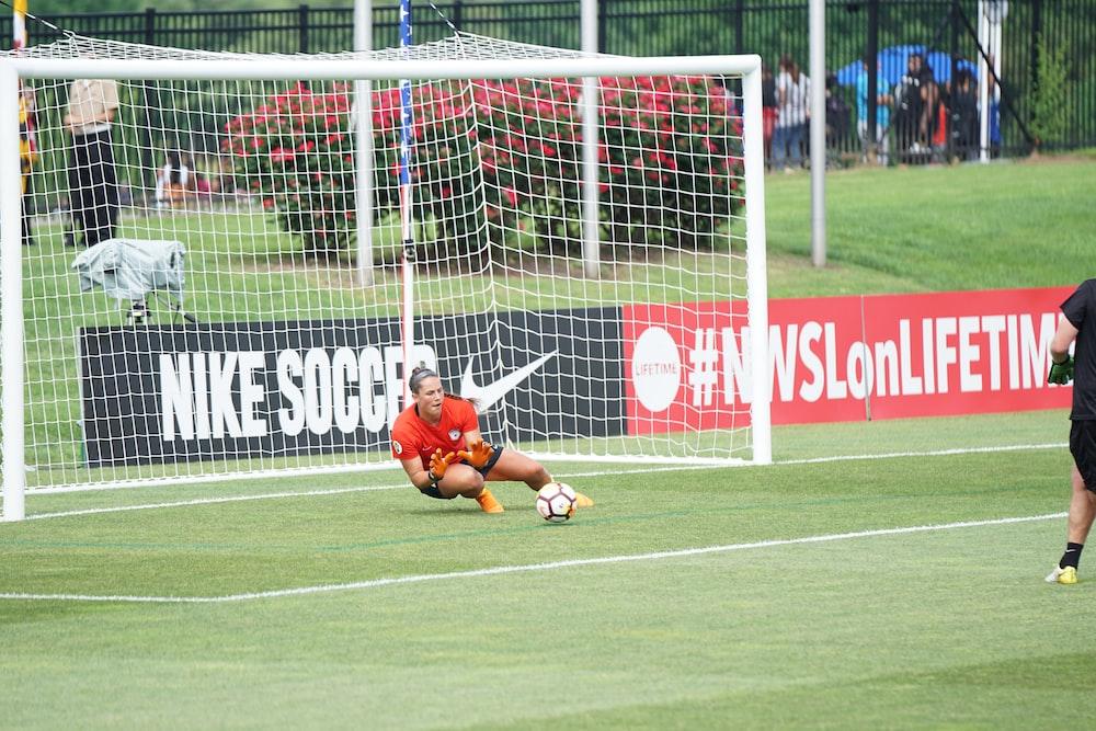 goalkeeper saving the ball