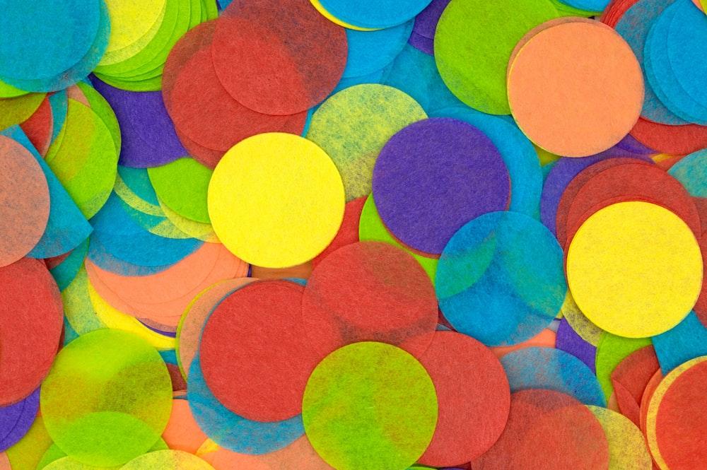 multicolored fabric pad lot