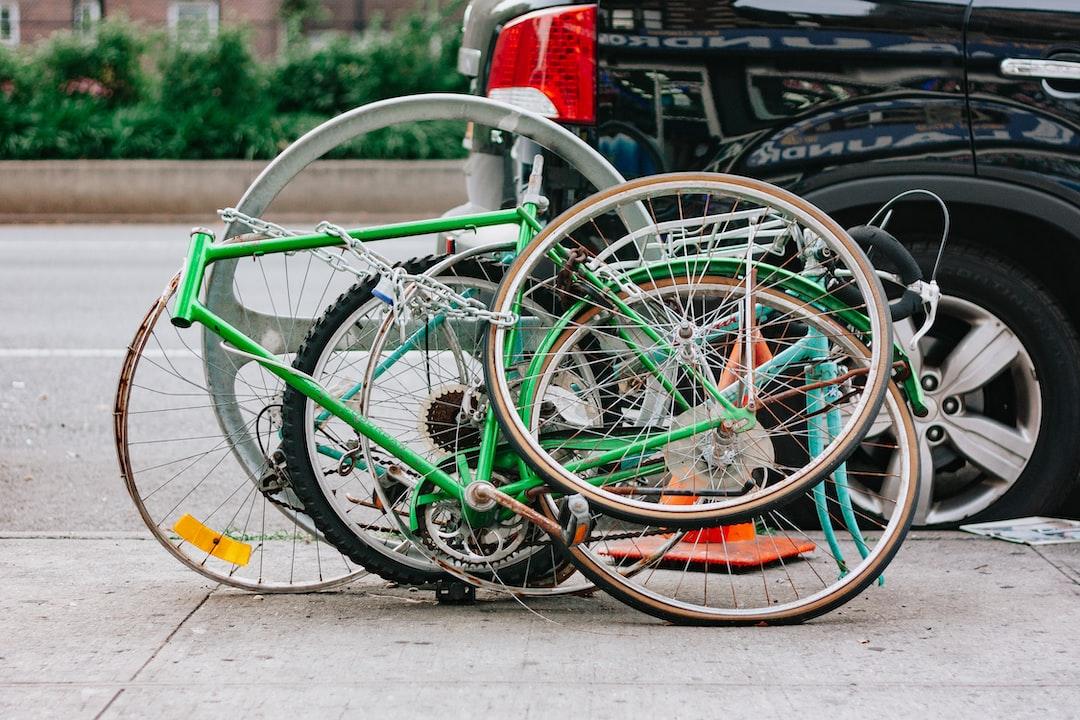 green and black road bike
