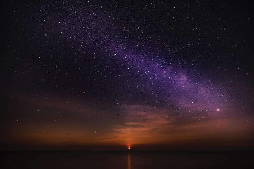 Moonrise under the Milky Way