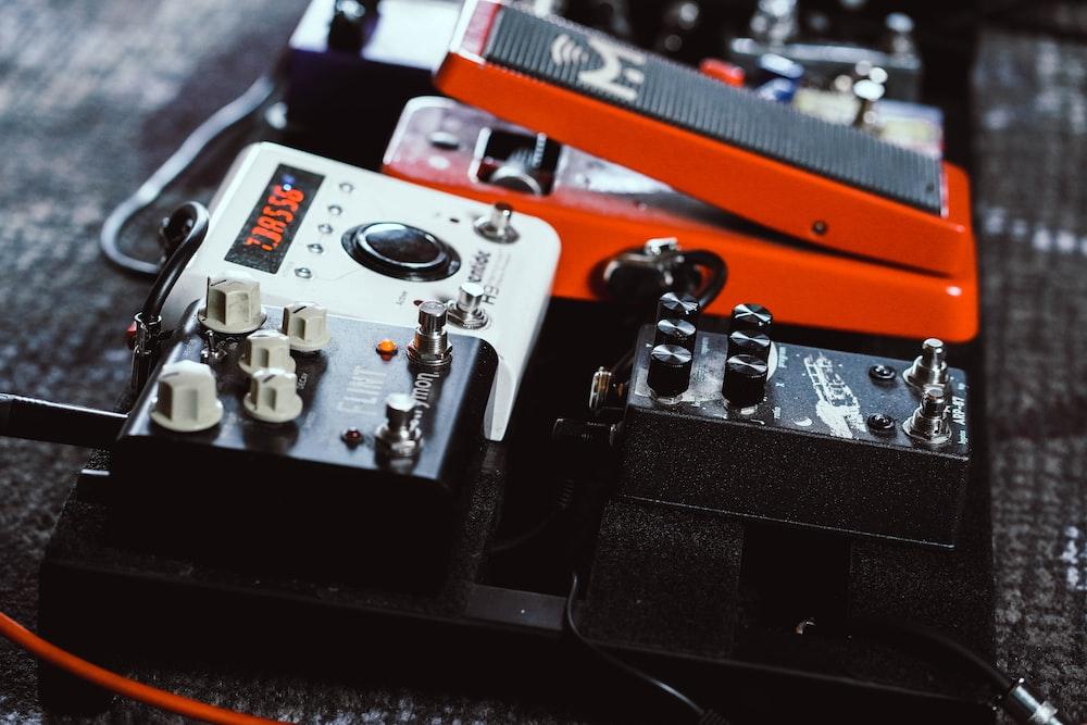 square black guitar tuners
