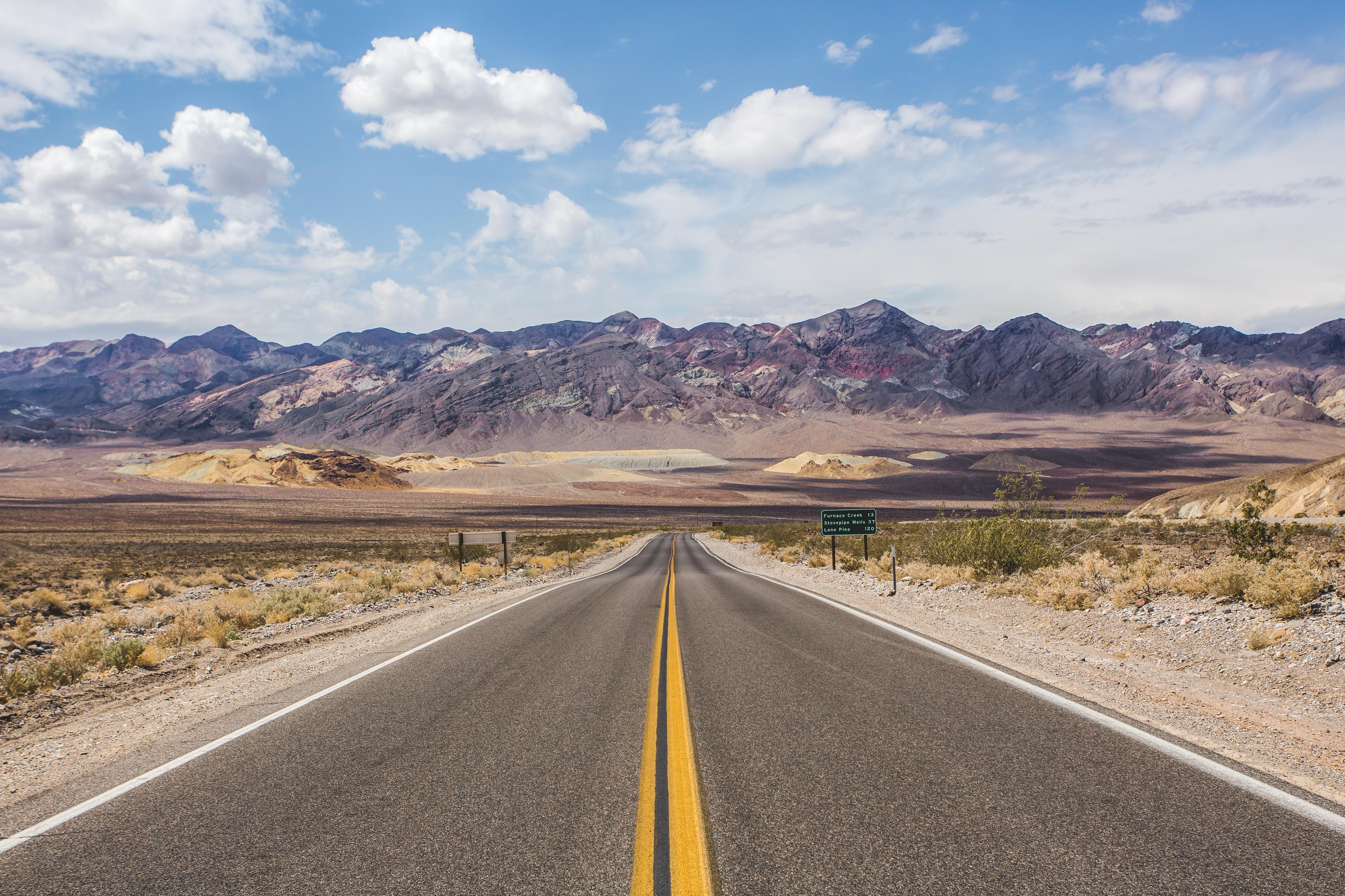 centralized photography of asphalt road