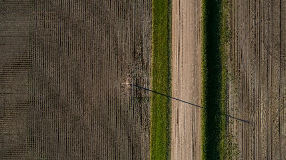 aerial photo of farming field