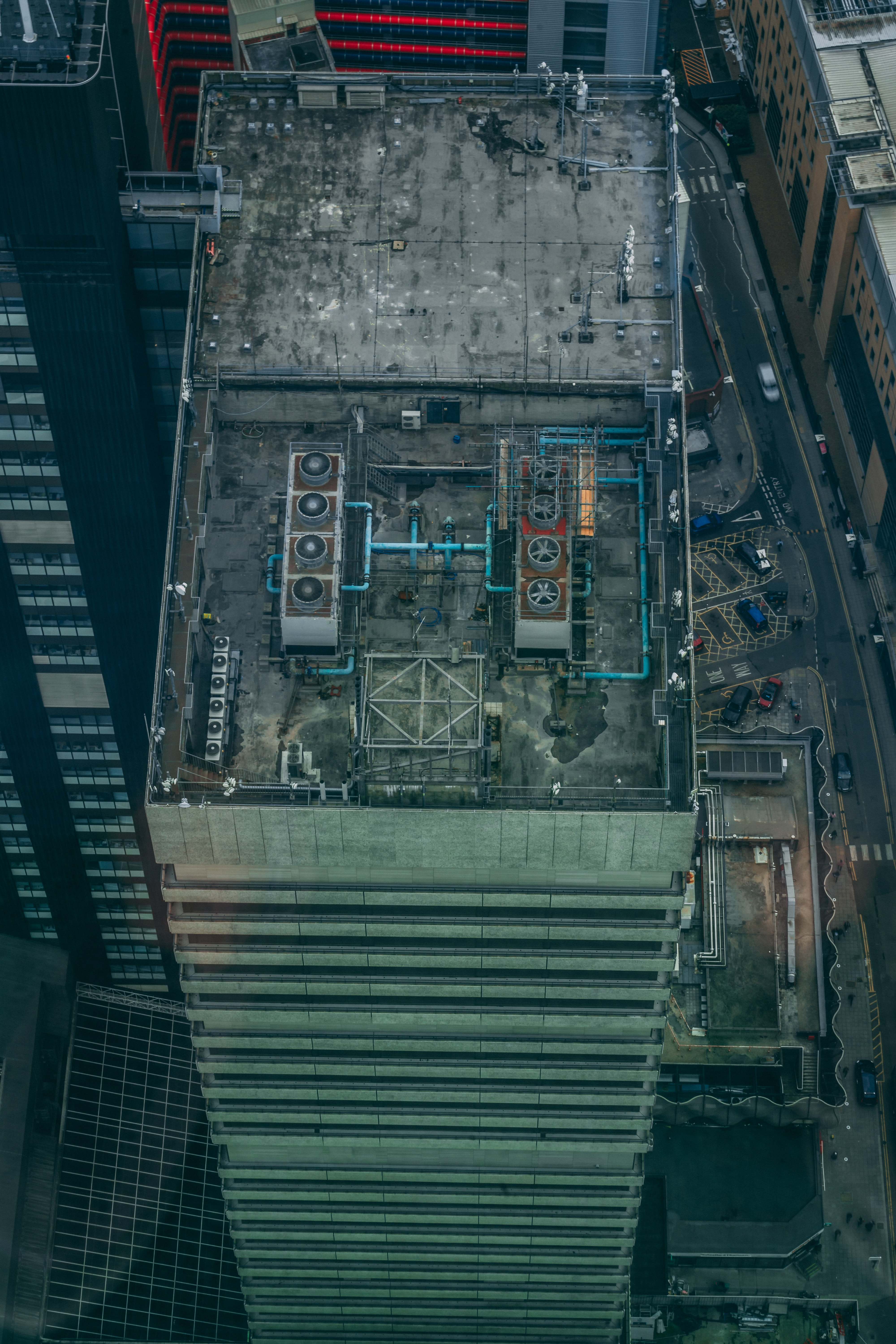 aerial photography of high rise building