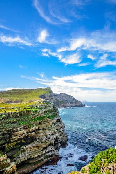landscape photo of cliff near sea