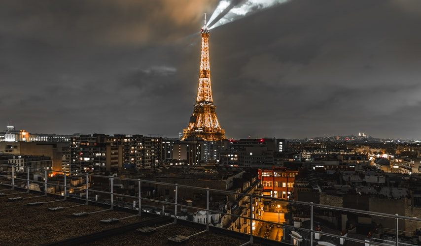 Eiffel tower by the evening