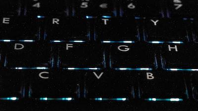 black backlit keyboard comet zoom background