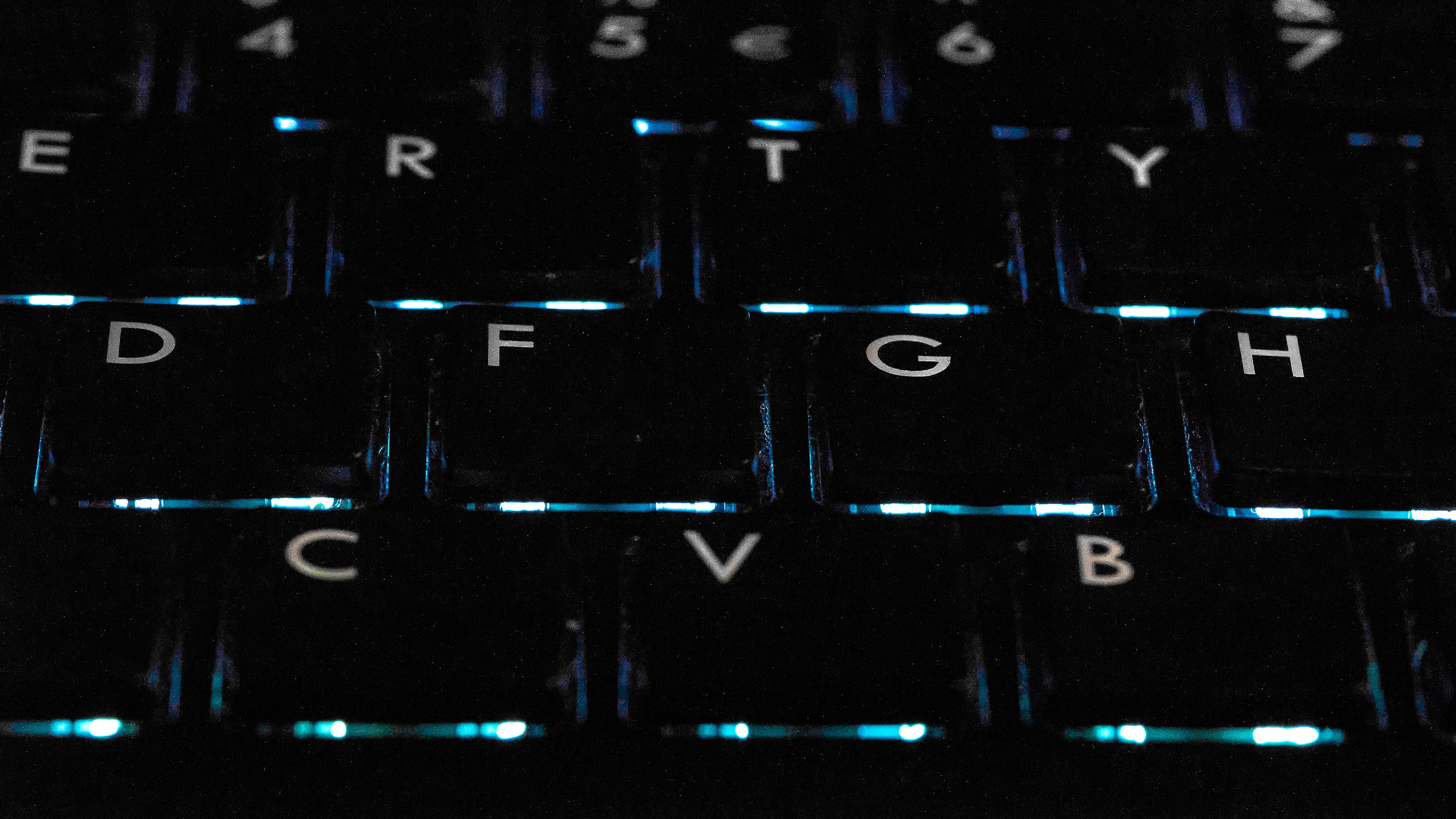 black backlit keyboard