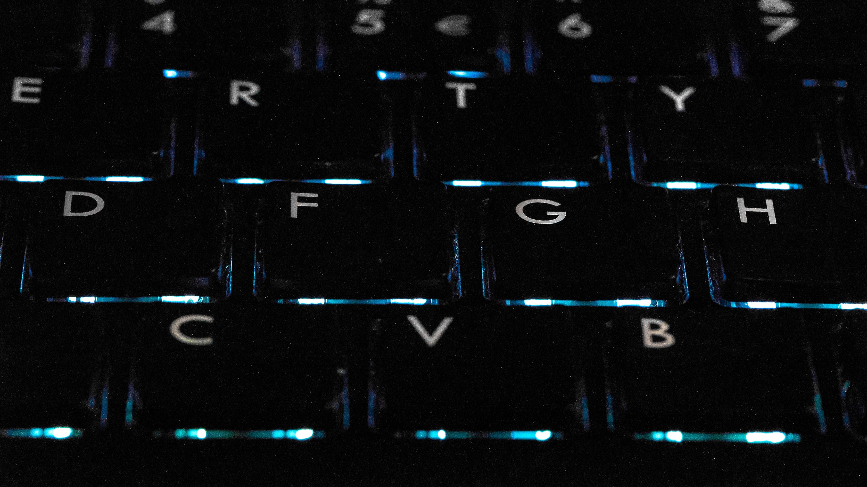 black backlit keyboard