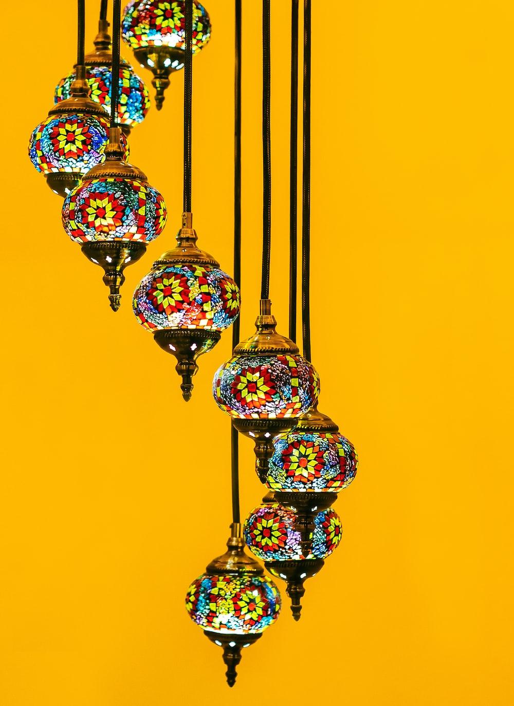 multicolored tiffany pendant lamp