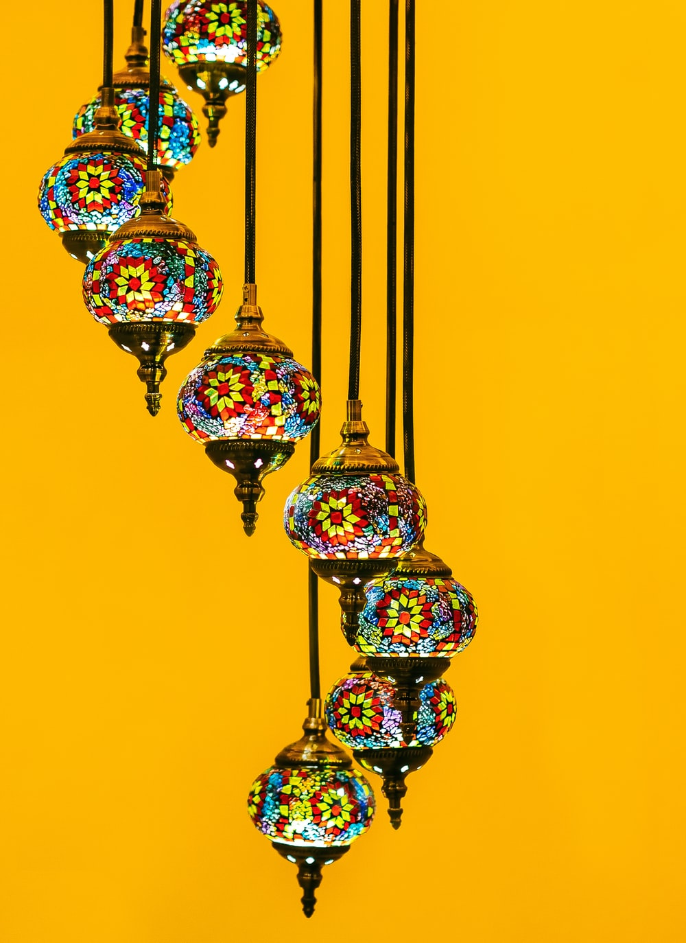 multicolored tiffany pendant lamp