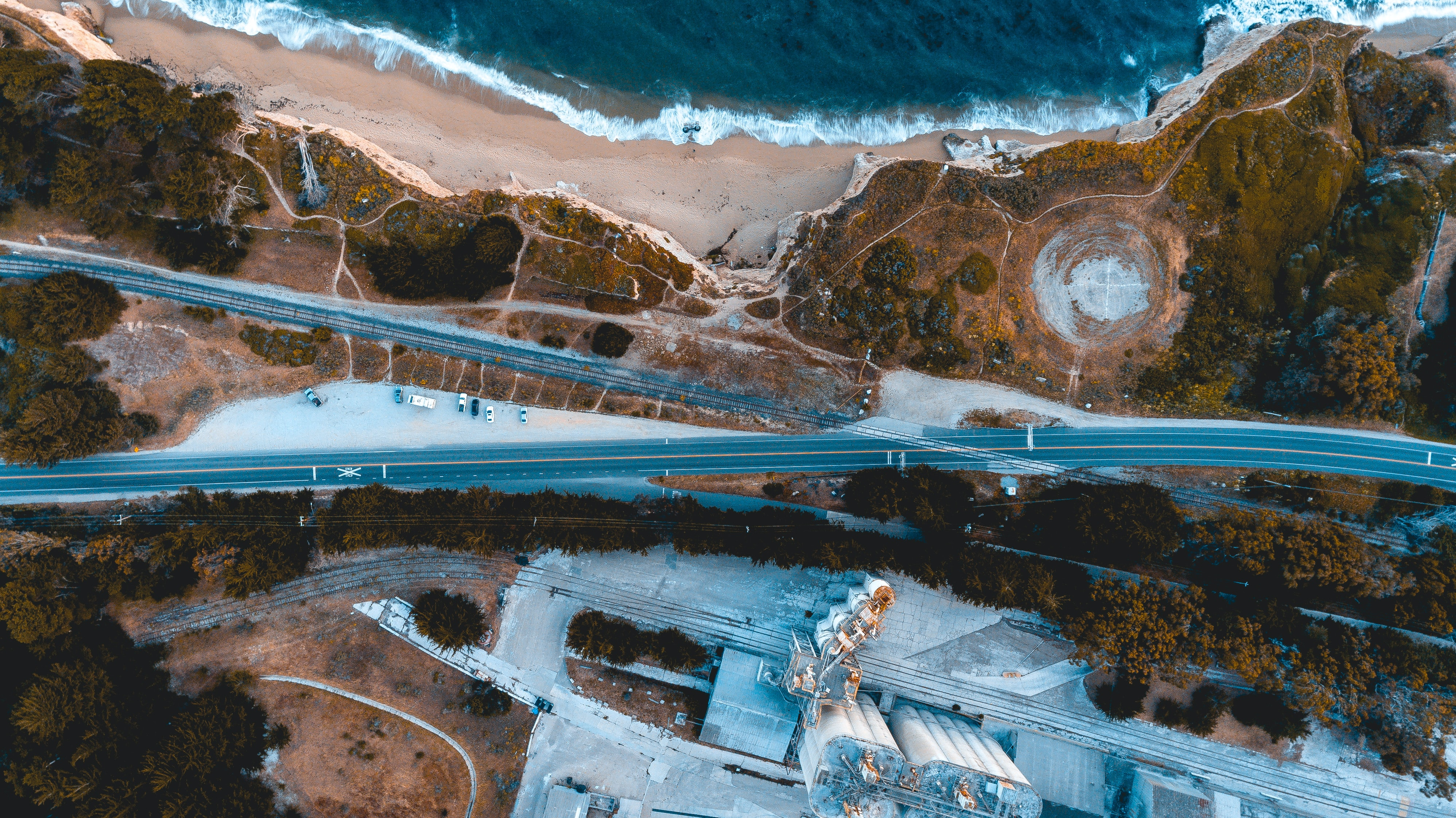 highway aerial photography